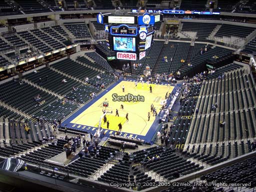 Seat view from section 215 at Bankers Life Fieldhouse, home of the Indiana Pacers