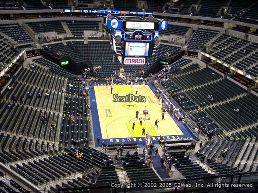 Seat view from section 218 at Bankers Life Fieldhouse, home of the Indiana Pacers