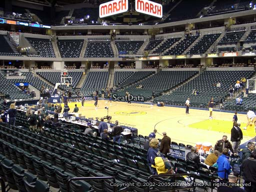 Seat view from section 3 at Bankers Life Fieldhouse, home of the Indiana Pacers