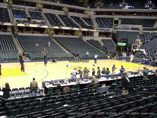 Seat view from section 6 at Bankers Life Fieldhouse, home of the Indiana Pacers