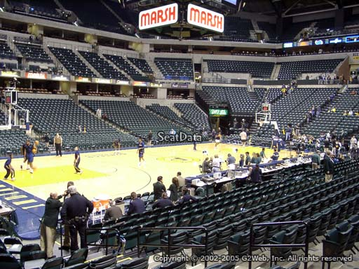 Seat view from section 7 at Bankers Life Fieldhouse, home of the Indiana Pacers