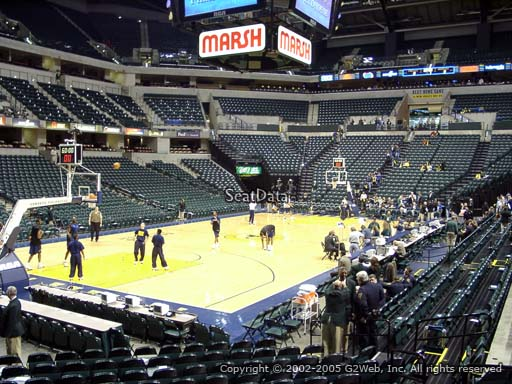 Seat view from section 8 at Bankers Life Fieldhouse, home of the Indiana Pacers