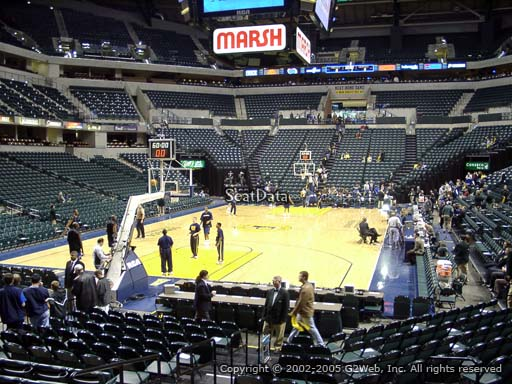 Seat view from section 9 at Bankers Life Fieldhouse, home of the Indiana Pacers