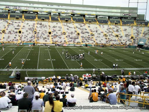 Seat view from section 118 at Lambeau Field, home of the Green Bay Packers