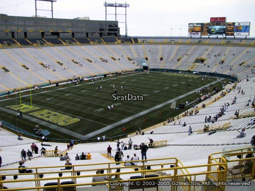Seat view from section 310 at Lambeau Field, home of the Green Bay Packers