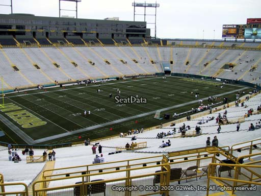 Seat view from section 314 at Lambeau Field, home of the Green Bay Packers