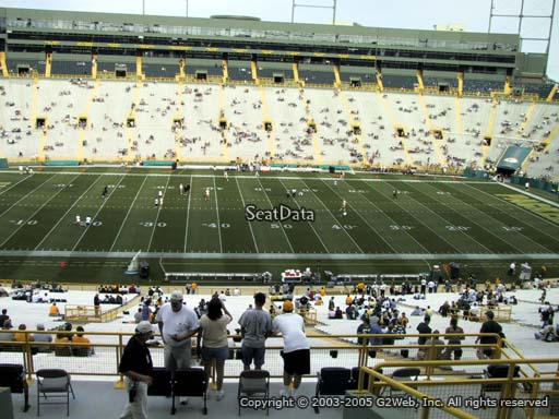 Seat view from section 324 at Lambeau Field, home of the Green Bay Packers