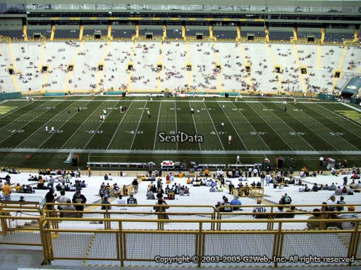 Seat view from section 326 at Lambeau Field, home of the Green Bay Packers