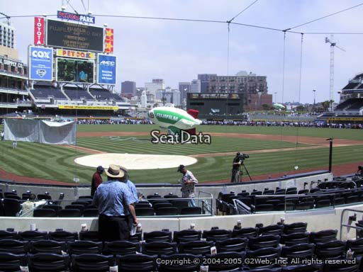 Seat view from section 101 at Petco Park, home of the San Diego Padres