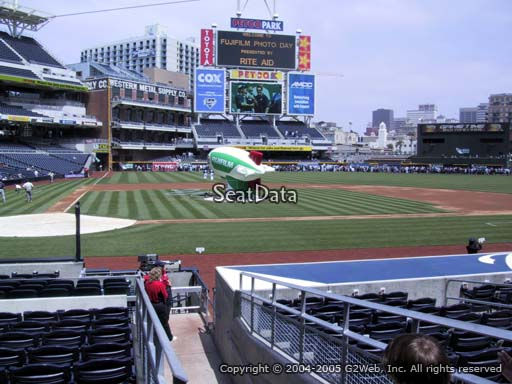 Seat view from section 105 at Petco Park, home of the San Diego Padres