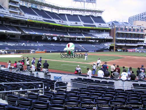 Seat view from section 111 at Petco Park, home of the San Diego Padres