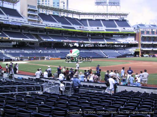 Seat view from section 113 at Petco Park, home of the San Diego Padres