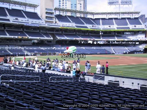 Seat view from section 115 at Petco Park, home of the San Diego Padres