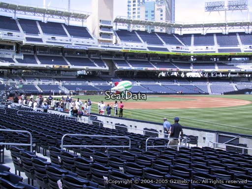 Seat view from section 117 at Petco Park, home of the San Diego Padres