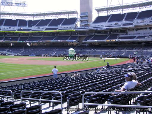 Seat view from section 118 at Petco Park, home of the San Diego Padres