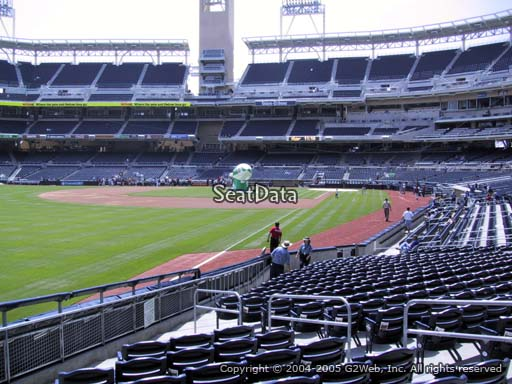 Seat view from section 124 at Petco Park, home of the San Diego Padres
