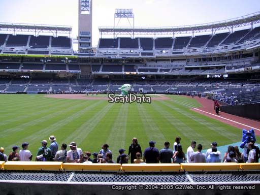 Seat view from section 126 at Petco Park, home of the San Diego Padres
