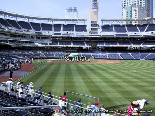 Seat view from section 127 at Petco Park, home of the San Diego Padres
