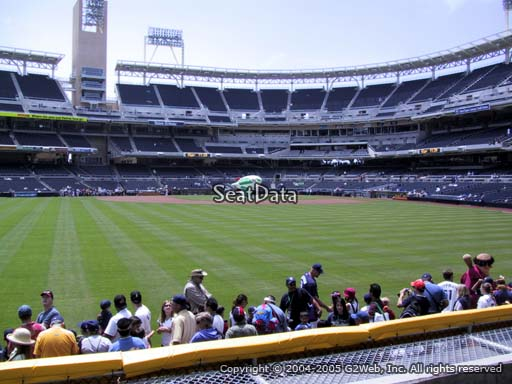 Seat view from section 132 at Petco Park, home of the San Diego Padres