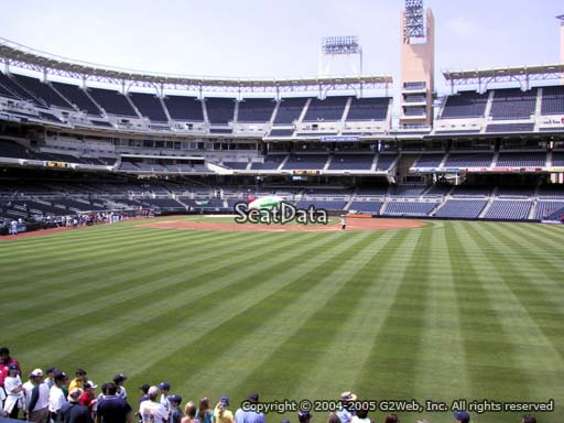 Seat view from section 135 at Petco Park, home of the San Diego Padres