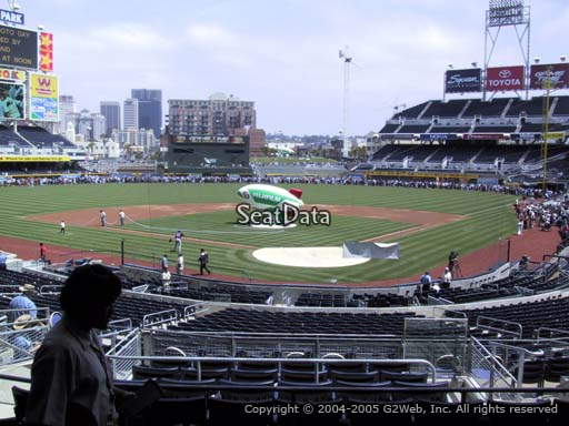 Seat view from section E at Petco Park, home of the San Diego Padres