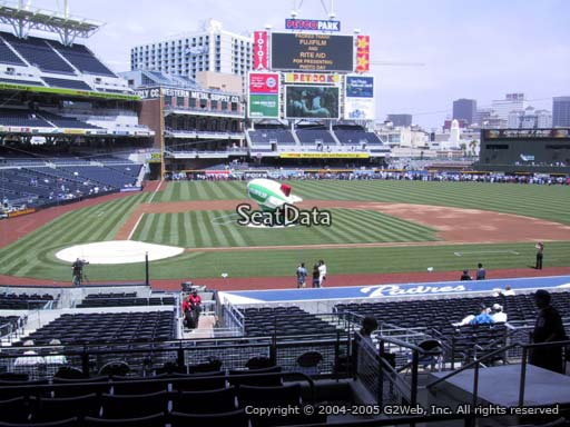 Seat view from section L at Petco Park, home of the San Diego Padres