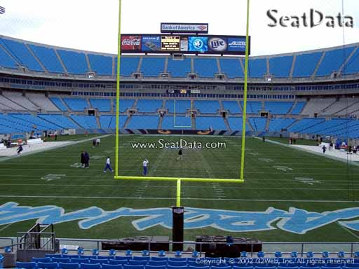 Seat view from section 101 at Bank of America Stadium, home of the Carolina Panthers