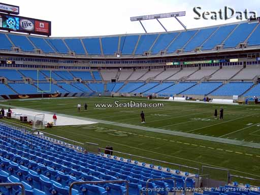 Seat view from section 107 at Bank of America Stadium, home of the Carolina Panthers