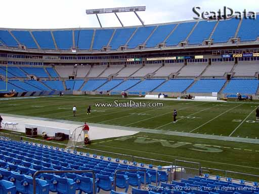 Seat view from section 109 at Bank of America Stadium, home of the Carolina Panthers