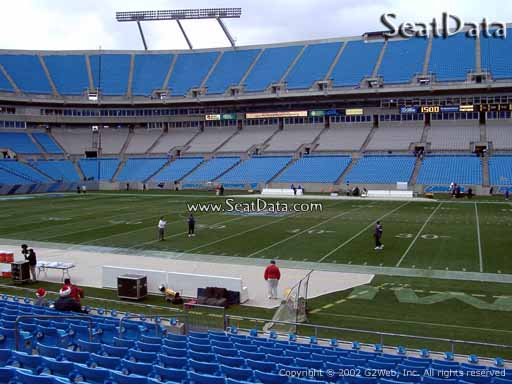 Seat view from section 110 at Bank of America Stadium, home of the Carolina Panthers