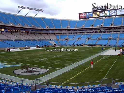 Seat view from section 118 at Bank of America Stadium, home of the Carolina Panthers