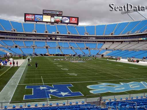 Seat view from section 123 at Bank of America Stadium, home of the Carolina Panthers
