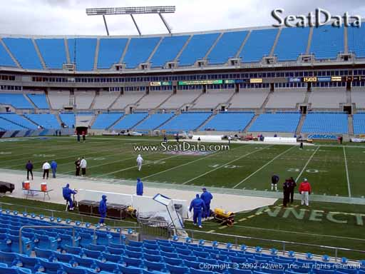 Seat view from section 130 at Bank of America Stadium, home of the Carolina Panthers