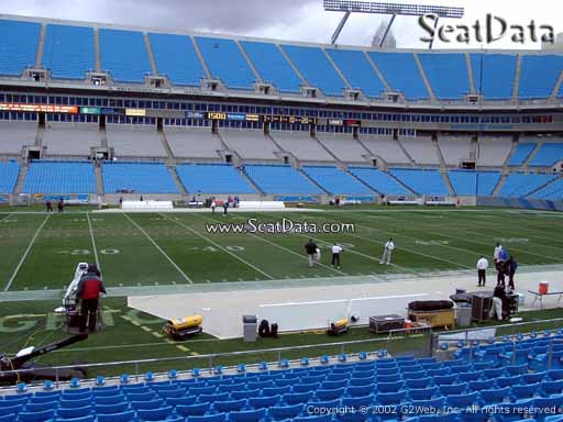 Seat view from section 133 at Bank of America Stadium, home of the Carolina Panthers