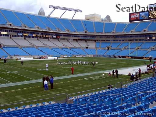 Seat view from section 136 at Bank of America Stadium, home of the Carolina Panthers