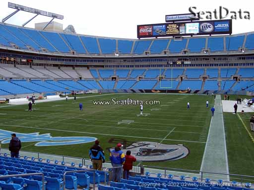 Seat view from section 139 at Bank of America Stadium, home of the Carolina Panthers