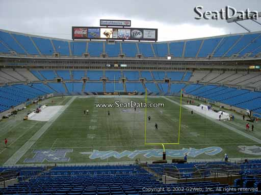Seat view from section 202 at Bank of America Stadium, home of the Carolina Panthers