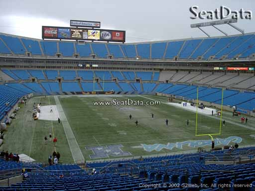 Seat view from section 204 at Bank of America Stadium, home of the Carolina Panthers