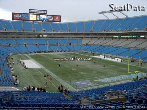 Seat view from section 205 at Bank of America Stadium, home of the Carolina Panthers