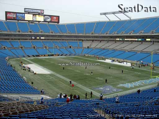 Seat view from section 206 at Bank of America Stadium, home of the Carolina Panthers