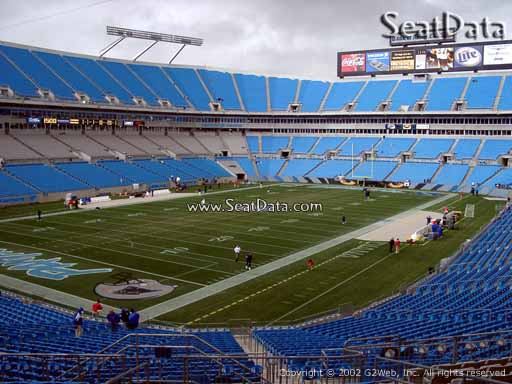 Seat view from section 224 at Bank of America Stadium, home of the Carolina Panthers