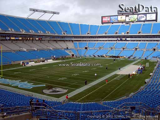 Seat view from section 225 at Bank of America Stadium, home of the Carolina Panthers