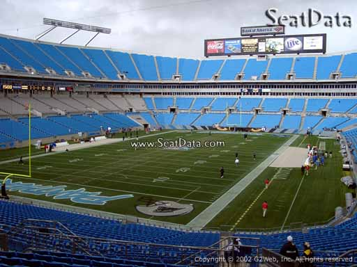 Seat view from section 226 at Bank of America Stadium, home of the Carolina Panthers
