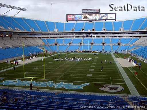 Seat view from section 228 at Bank of America Stadium, home of the Carolina Panthers