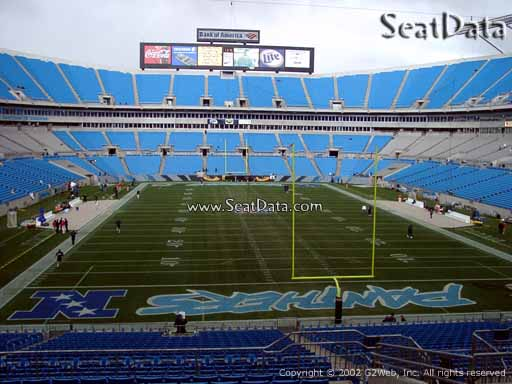 Seat view from section 230 at Bank of America Stadium, home of the Carolina Panthers