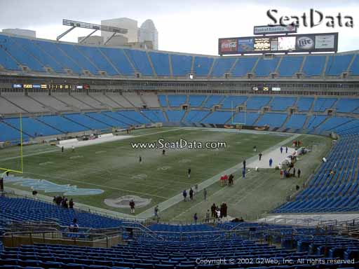 Seat view from section 253 at Bank of America Stadium, home of the Carolina Panthers