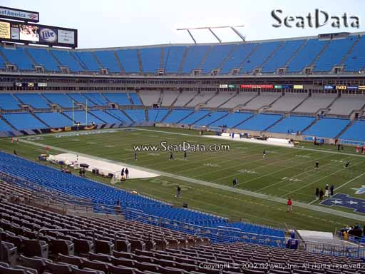 Seat view from section 310 at Bank of America Stadium, home of the Carolina Panthers