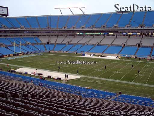 Seat view from section 312 at Bank of America Stadium, home of the Carolina Panthers