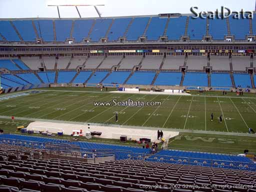 Seat view from section 314 at Bank of America Stadium, home of the Carolina Panthers