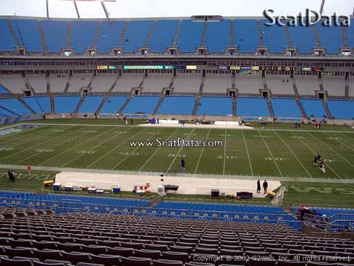 Seat view from section 315 at Bank of America Stadium, home of the Carolina Panthers